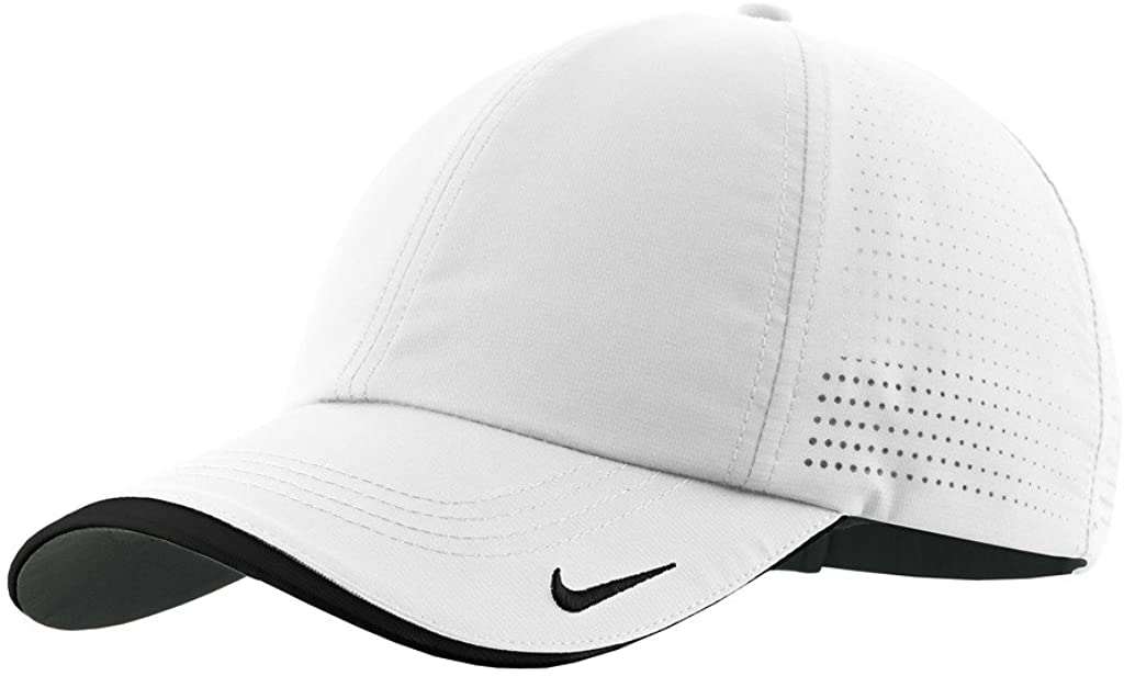 Nike Golf - Dri-FIT Swoosh Perforated Cap, 429467, White, No Size : Hats : Clothing