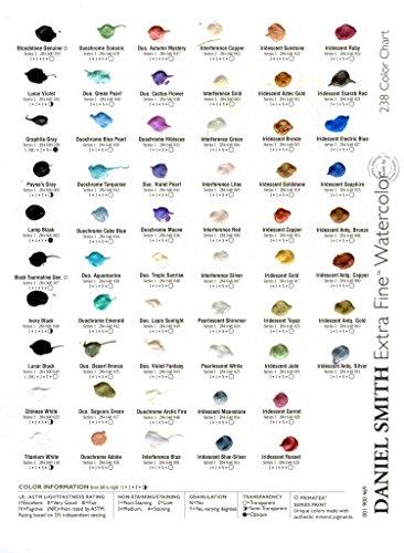 Daniel Smith Watercolor 238 Dot Color Chart Amazon Home Kitchen