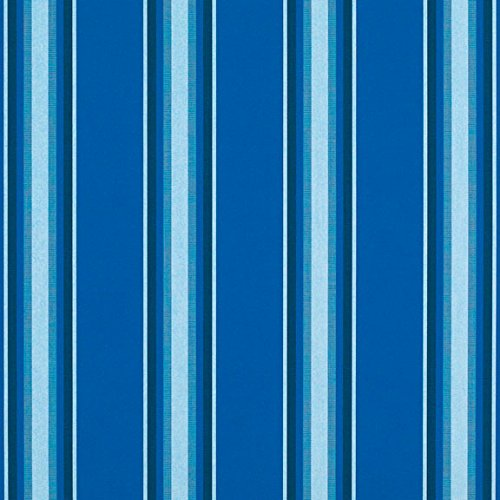 Pacific Fabric Blue (Sunbrella Pacific Blue Fancy #4755-0000 Awning / Marine Fabric)