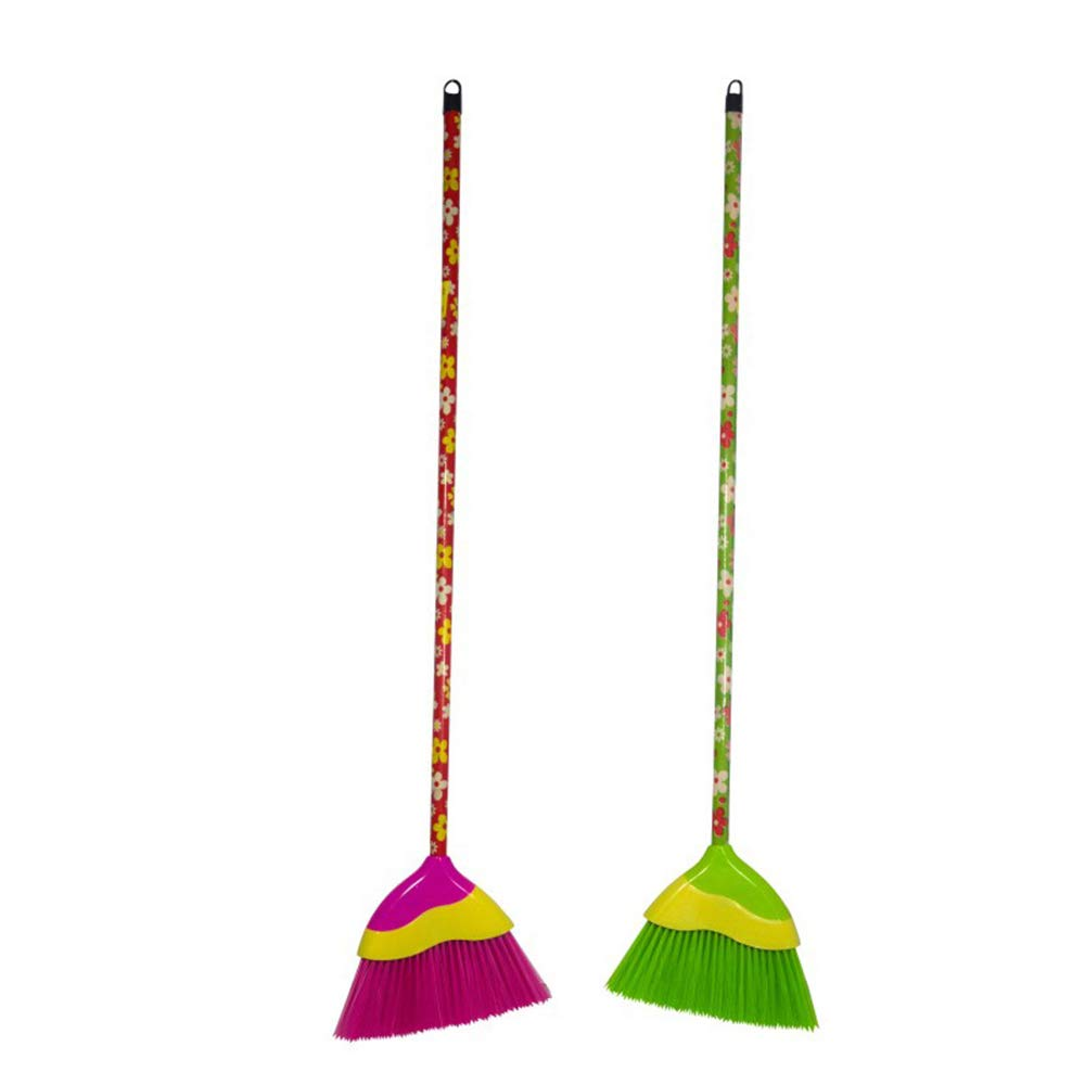 Aofocy Home and Garden Plastic Broom Yard Broom with Plastic Body Handle