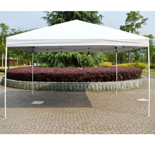 Outsunny 13' x 13' Large Outdoor Patio Pop Up Gazebo PartyTent Instant Canopy Shelter - White