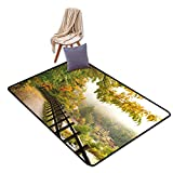 Japanese Area Rugs Floor Mat, Scenic View from
