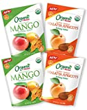Mariani | Certified Organic Variety Pack | Dried Mango + Malatya Apricots | Unsweetened & Unsulfured | No Preservatives | Gluten-Free | Resealable Bag | (Pack of 4) Review