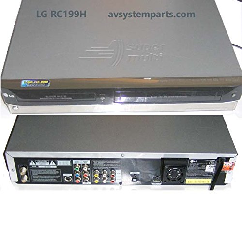 LG RC199H Super Multi Format DVD Recorder / VCR Combo Player Complete with Remote Audio Video Cables and Digital Online PDF Instruction Manual