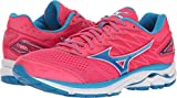 Cheap Mizuno Running Women's Wave Rider 20 Shoes, Paradise Pink/Blue Aster/White, 7.5 B US