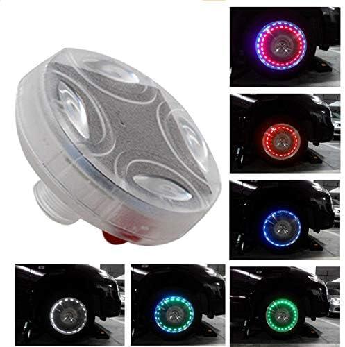 Hangang auto rotella Lights  4pcs tappo valvola aria luce solare energia solare auto Power con sensori di movimento luce colorata LED pneumatici gas ugello Cap sensori di movimento per auto moto bici