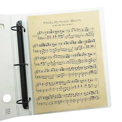 Keepfiling 9 x 12 Music Sheet Protectors, Heavyweight, Glass Clear, Pack of 25, Archival - 12 Protectors Sheet