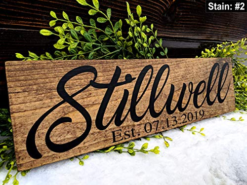 Family Surname Sign. Custom Last Name Sign With Established Date. Custom Wood Sign. Anniversary Gift