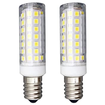 2 Pieza 6W Bombilla LED E14 KingYH 83SMD LED ESE E14 Edison Frigorífico Bombilla PC Luz