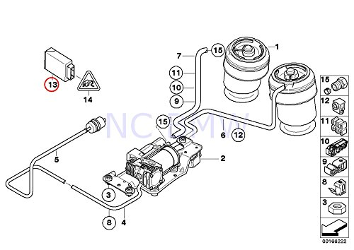 Amazon Com Bmw Genuine Air Suspension Control Unit Automotive
