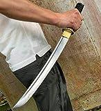 Japanese Wakizashi Sword Katana Full Tang High Carbon Steel Blade Sharp Handmade Samurai Short Knife
