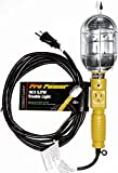 Pro Power 16/3 SJTW Metal Cage Portable Work Light With 15 Foot Cord