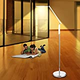 Eye-Care LED Modern Floor Lamp with Dimmer , Touch-Sensitive Switch,360 Degree Rotatable Shades for living Room, Bedroom or Office