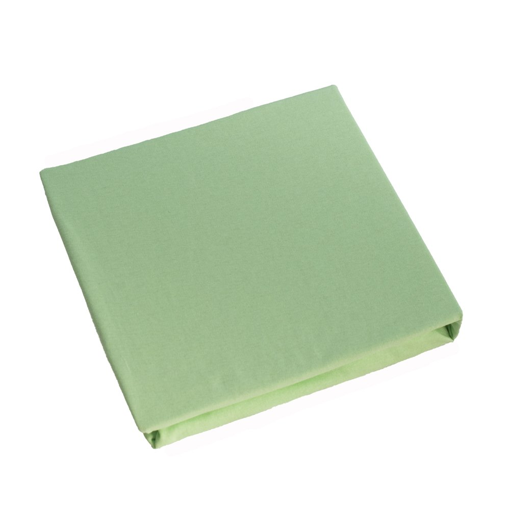 Jersey 100% Cotton Fitted Sheet Suits Cot Bed 140x70 cm - GREEN Baby Comfort