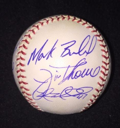2006 Chicago White Sox Team Signed OML Baseball Ball Jim Thome Mark Buehrle - Autographed Baseballs - Jim Thome Signed Mlb Baseball