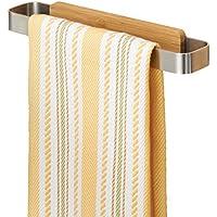 mDesign Affixx - Handdoekenstang - handdoekenhouder voor de keuken - praktisch/zonder boren/zelfklevend/roestvrij staal…