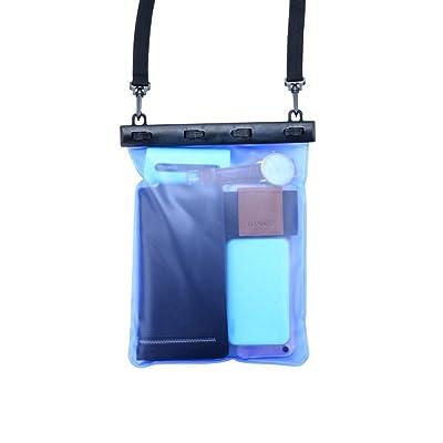GWDZX Sac Imperméable De Téléphone Portable De Grande Capacité Sac Imperméable Plage équipement Général De Rafting De Natation Objets De Valeur Kit De Plongée,Blu