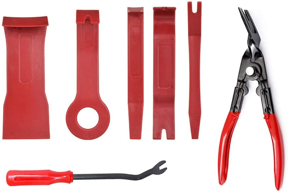 DKIIGAME Car Trim Removal Tools Car Panel Removal Tools Kit Auto Trim Removal Tool Kit for Car Panel Dash Audio Radio Removal Installer and Repair Pry Tool Kits