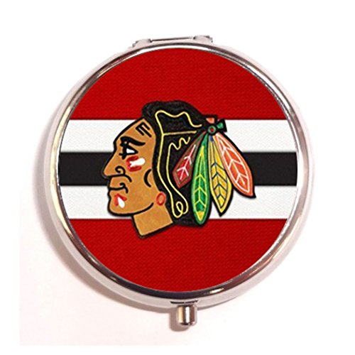 NHL Floral Unique Custom fashion Pill box Holders,Durable Stainless Steel Pill Case Medicine Organizer Pocket or Coin - Nhl Coin