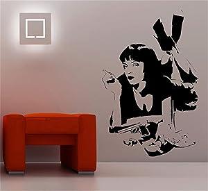 Jisao Vinyl Wall Sticker Mural Bible Letter Quotes Mia Wallace Quentin Tarantino Film Pulp Fiction Decal Dorm Bar Teen Room Decor