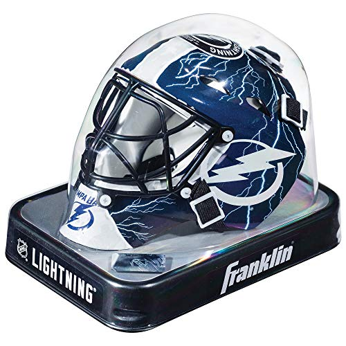 - Franklin Sports NHL League Logo Tampa Bay Lightning Mini Goalie Mask