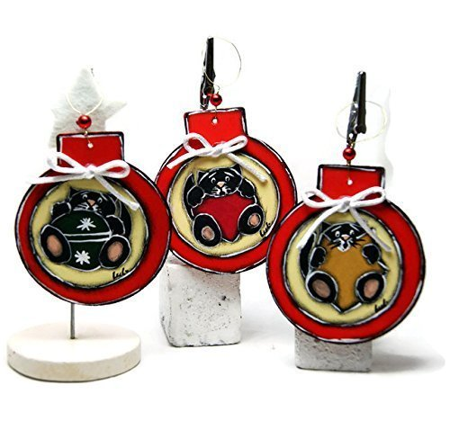 christmas balls with cat christmas ornaments with cat cat tree decorations - Cat Christmas Decorations