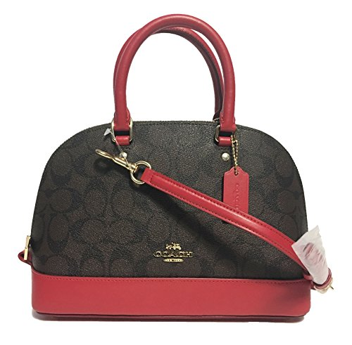 Women��s Satchel Shoulder Shoulder Purse Mini Inclined Sierra True Brown Coach Red Handbag Spq7R6qw