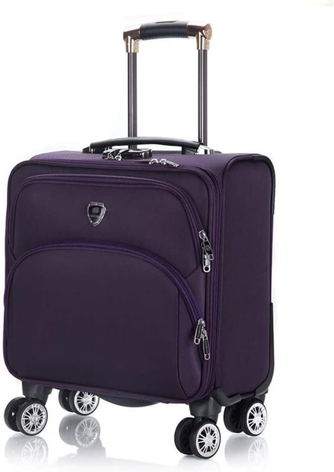 LHUGI Suitcase Travel Trolley Case Oxford Cloth Small Trolley Universal Wheel Luggage Men and Women Boarding Small Travel Soft Box Color : Style A