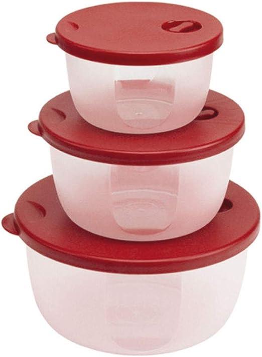 DEI QI 3 Unidades de Plástico Redondo Recipiente de Microondas ...