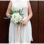 Best-Quality-Boho-Wedding-Bouquet-Silk-Flowers-Cream-Greenery