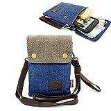 small side bag - Dlames Canvas Cross-body Casual Shoulder Bag for iPhone X ,iPhone 8 Plus,iphone 6S plus ,7 Plus ,Samsung Galaxy S7 Edge,S8 Edge (Dark Blue)