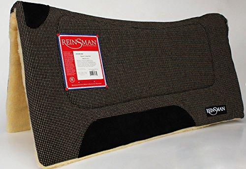 Reinsman Western Horse Saddle Square Contour Felt Cushioned Pad Wool Fur - Saddle Barrel Reinsman