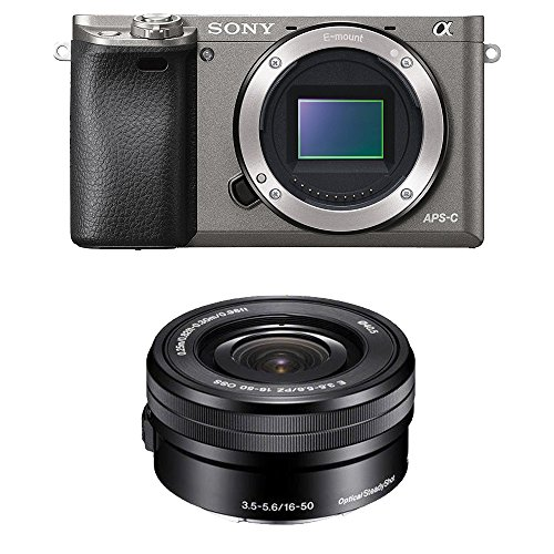 Sony Alpha A6000 Mirrorless Digital Camera With 16 50Mm Lens  Graphite  Ilce 6000L H
