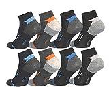 12 Paar Herren Sport Sneaker Socken Füßlinge Baumwolle 39-42 ; 43-46 (39-42)