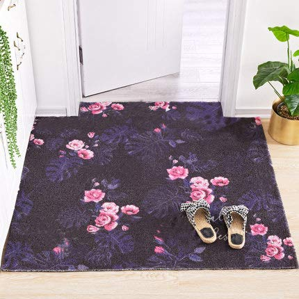 Purple 20x47inch Non-Slip Durable Door Mat, Carpet Entry Mat Welcome Mat Easy to Clean-Purple 20x47inch