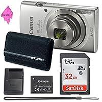 Canon PowerShot ELPH 180 Digital Camera (Silver) with 32GB Memory + CANON PSC-2070 CASE +DIGITALUNIVERSE CLOTH