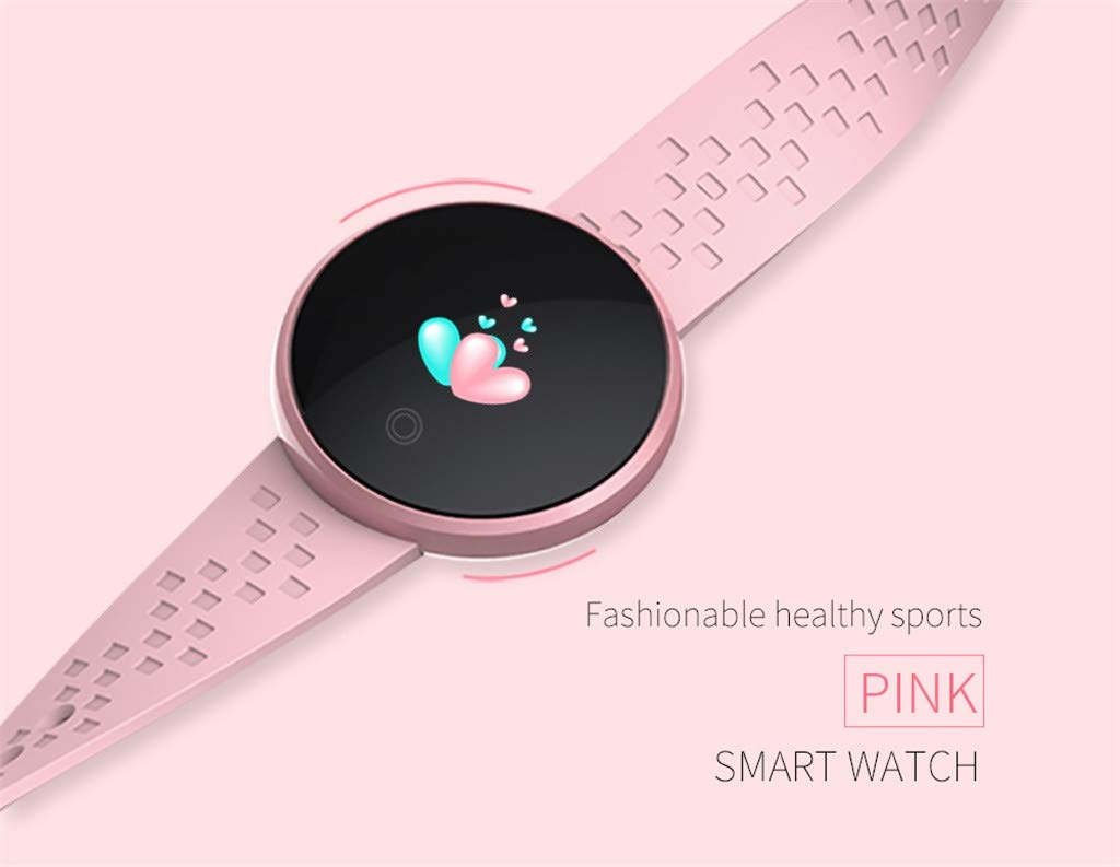 TADAMI Smart Wristbands Female Heart Rate Color Screen Physiological Period Reminds Fashion Smart Bracel (Pink) by TADAMI Blouse (Image #2)