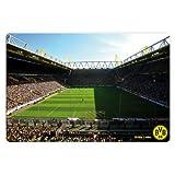 Glasbild - BVB - Signal Iduna Park Live-Spiel - 100x70 cm - mit abgerundeten Ecken - 3D Optik GA1189