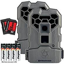 Stealth Cam QS14 FX Shield 14MP Hunting Trail Cam - 2 Pack Camera Combo Bundle