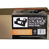 HomComfort HCLRK Log Rack with Adjustable Uprights