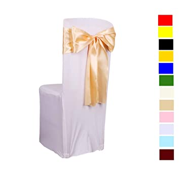 Amazon.com: Fvstar - 25 lazos de satén para sillas, lazos ...