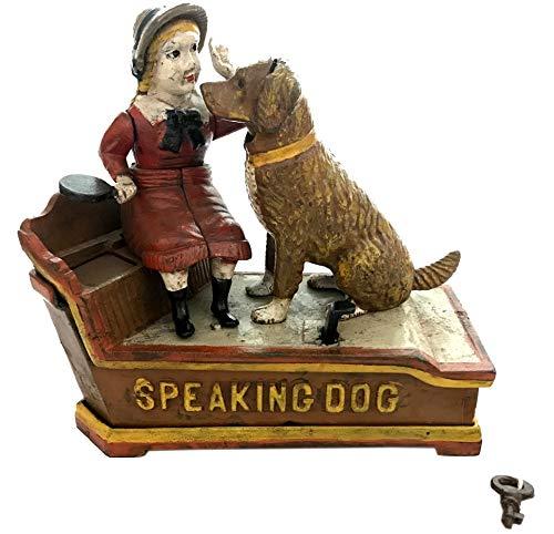 Global Art World J. E. Stevens Company 1897 Re-Creation Heavy Quality Antique Style Cast Iron Mechanical Vintage Speaking Dog Money Box Bank MB 04 by Global Art World (Image #10)