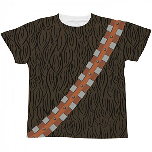 Movie Quality Chewbacca Costume (Kids Chewie Costume: All Over Printing Youth SubliVie Tee)