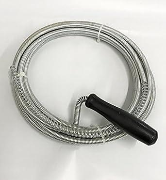 WennoW 3m Long Drain Pipe Plunger Cleaner Waste Kitchen Sink Snake
