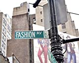Fashion Art Print, New York City Fashion Avenue Street Sign Photography, Fashion Wall Art Decor, Dorm Wall Art, Urban Wall Decor, Girls Room Art