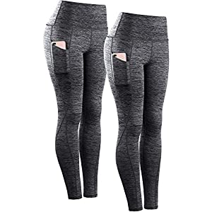 Neleus Women's Yoga Pant Running Workout Leggings with Pocket Tummy Control High Waist
