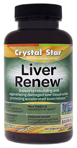 Crystal Star Liver Renew Herbal Supplements, 60 Count