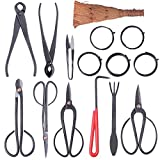 Bonsai Tool Set Carbon Steel 10-pc Kit Cutter Scissors Shears Tree W/ Nylon Case