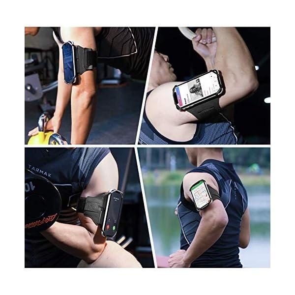 VUP Brassard Multifonctionnel de Sport l'Anti-Sueur pour Telephone au Bras pour iPhone X / 8 Plus/ 7 Plus/ 6 / 6s…