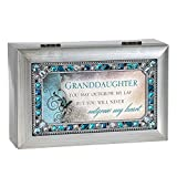 Cottage Garden Granddaughter Jeweled Silver Finish Jewelry Music Box - Plays Tune You Are My Sunshine